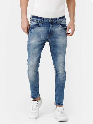 Random Wash Ice Blue Denim