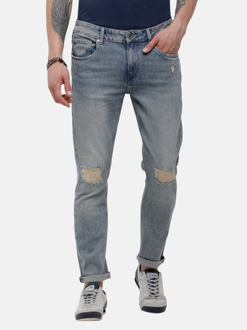 Men's Light blue, Rip & Repair denim