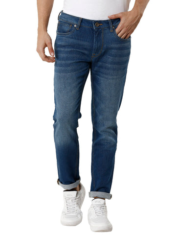 Light Blue Solid Men's Denim - Jeans Pant