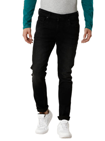 Charcoal Over Dyed Navy Men's Denim - Jeans Pants