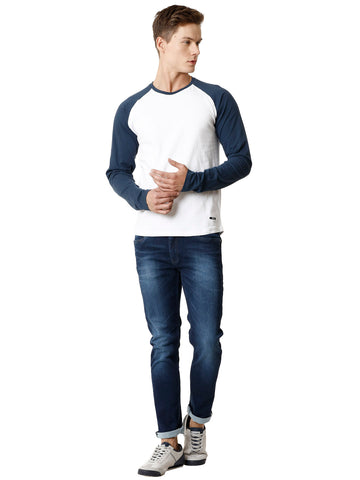 Knitted Dark Blue Men's Denim