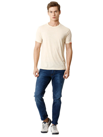 Twilled Mid Wash Indigo Men's Denim - Jeans Pant