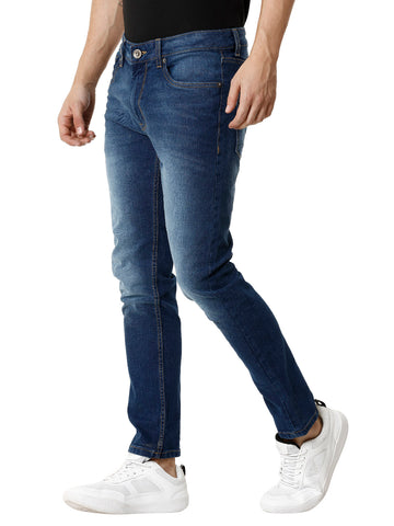 Blue Indigo Medium Wash Men's Denim - Jeans Pant