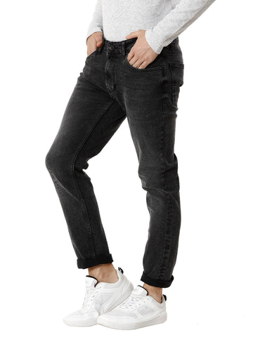 Black Random Mid Wash Men's Denim - Jeans Pant