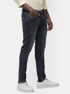 Men's Dark indigo faded jeans