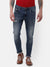 Men's Mid blue faded, Rip & repair denim