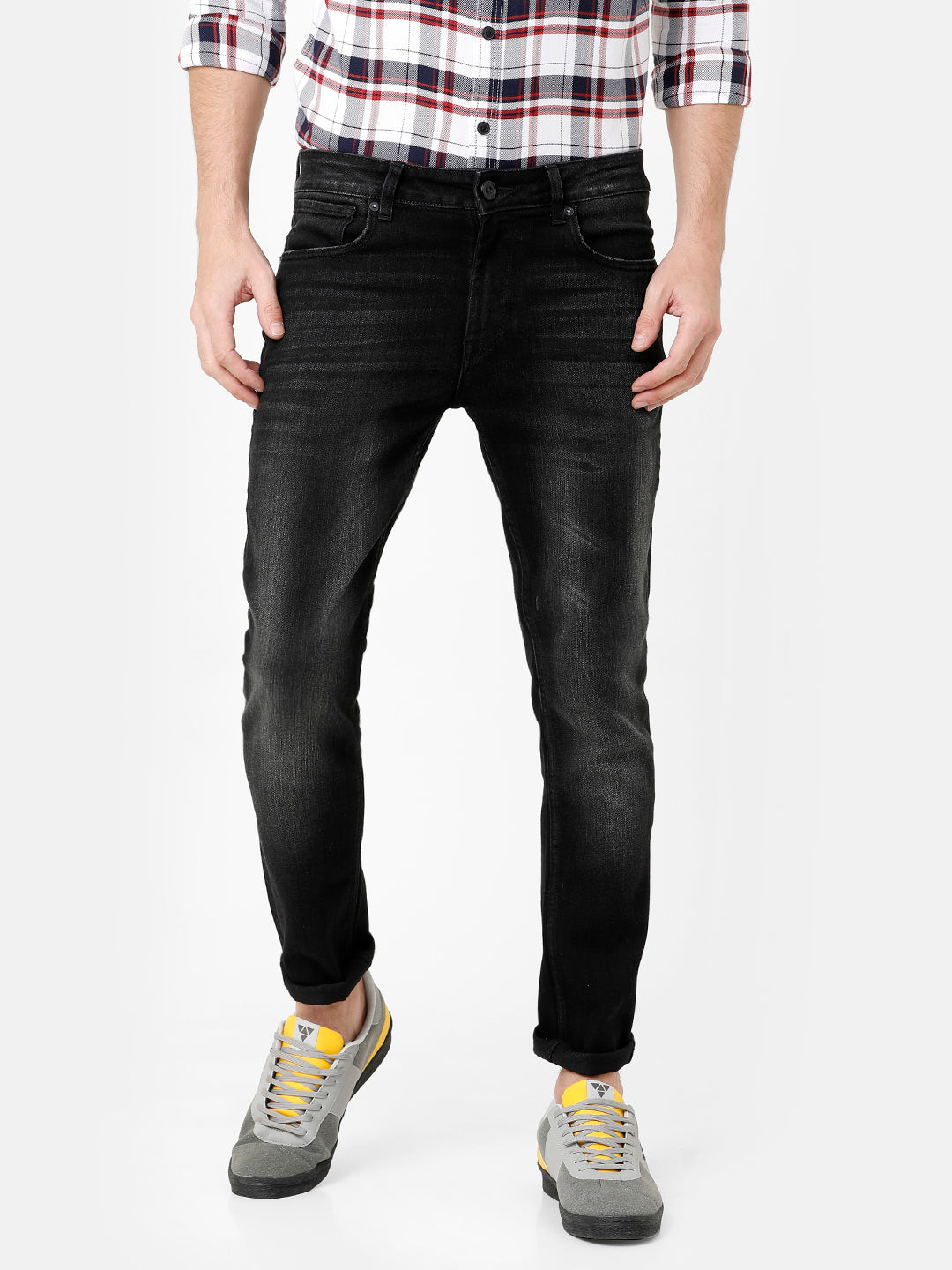 Black Dark Wash Denim