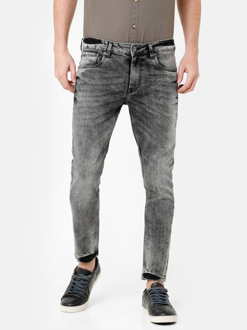 Random Wash Grey Denim