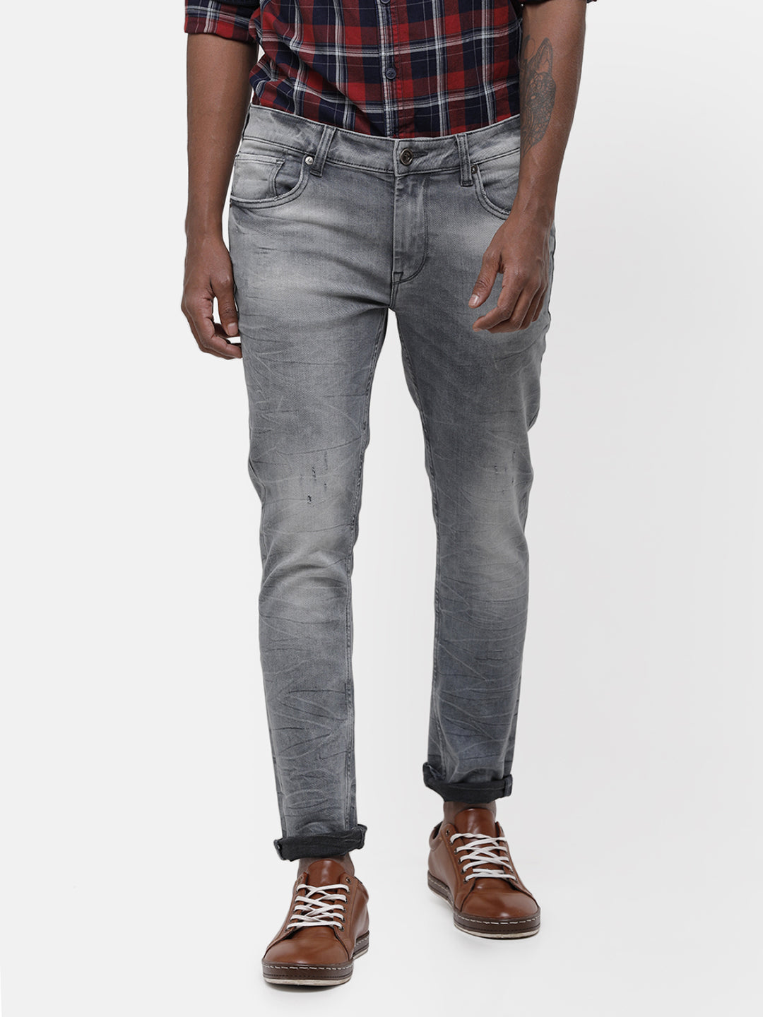Men's Light gray denim with fade