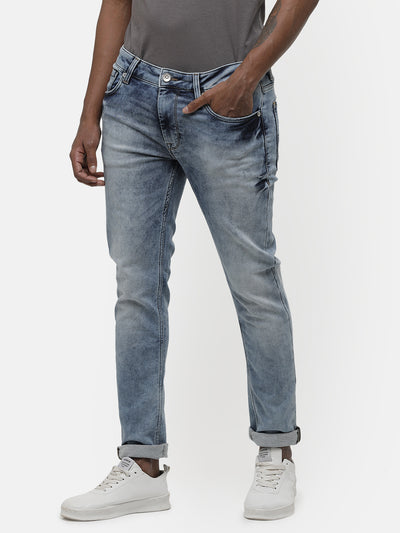 Men's Light blue, mid wash denim