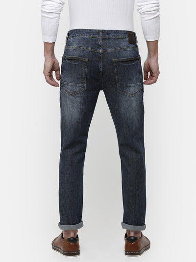 Men's mid blue denim
