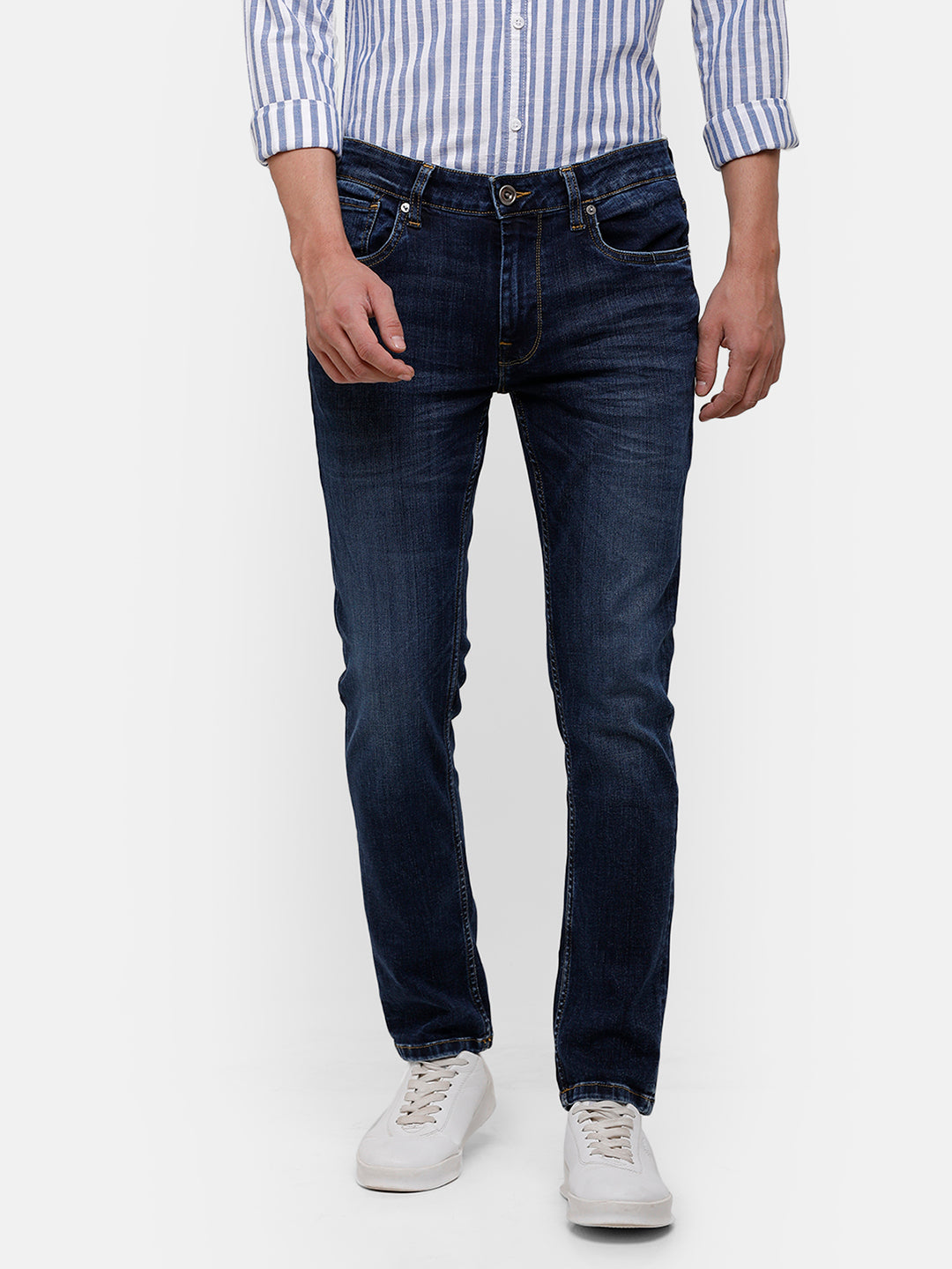Men's Dark Indigo clean wash denim