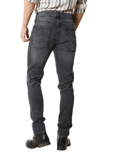 Knitted Mid Wash Black Denim