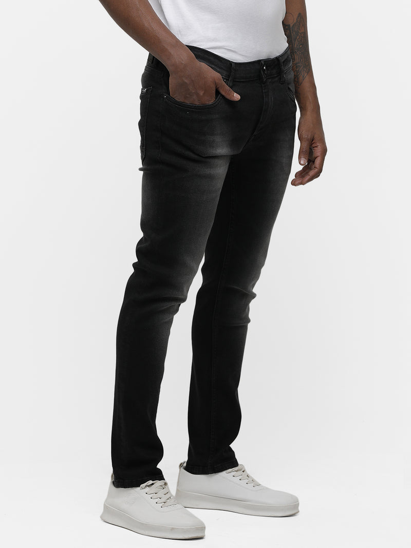 Men's Dark charcoal faded denim