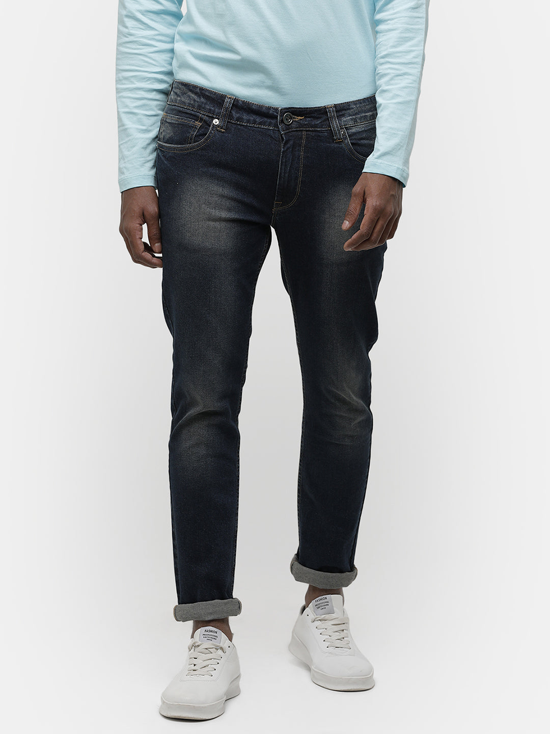 Men's dark indigo denim