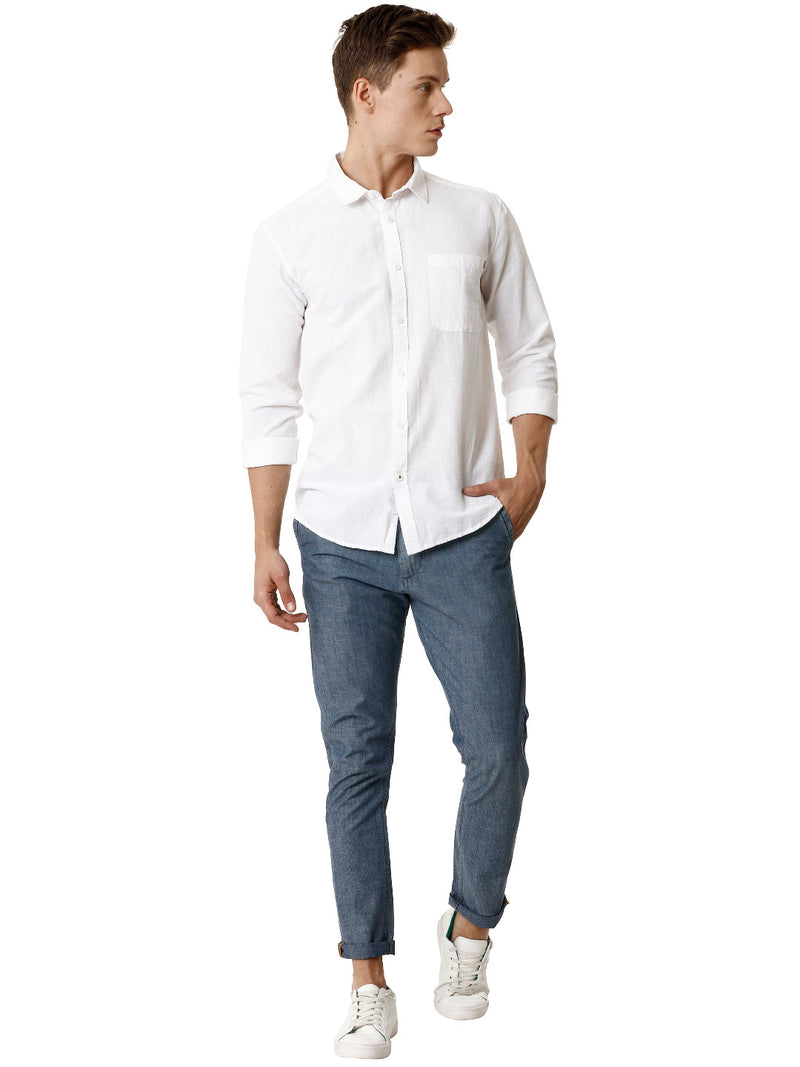 Mid Blue Indigo Men's Chinos