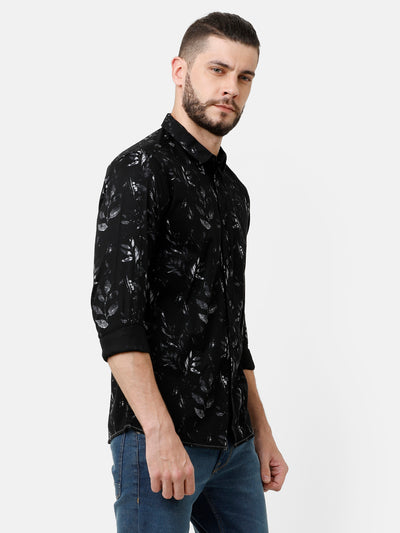 Printed Black Shirt