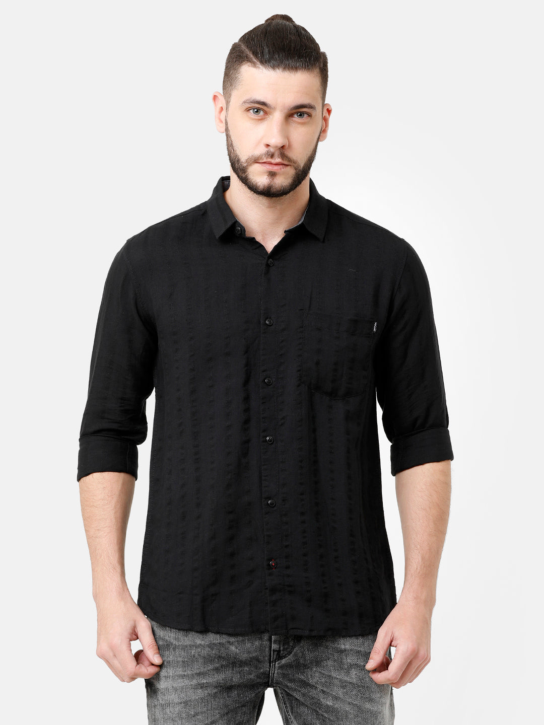 Linen - Self Stripes Dobby Shirt