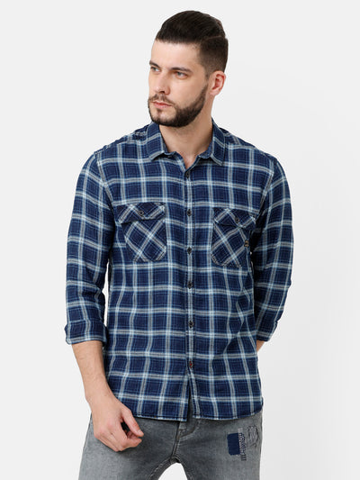 Double Pocket Indigo Shirt