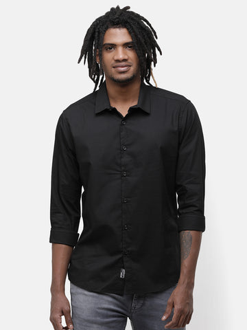 Black and Navy Stretch Shirt
