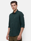 Men's Bottle Green Casual Shirt