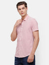 Men's Red & White casual Stripe knitted Shirt