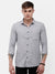 Men's Gray and white, self texture, full sleeve casual Shirt