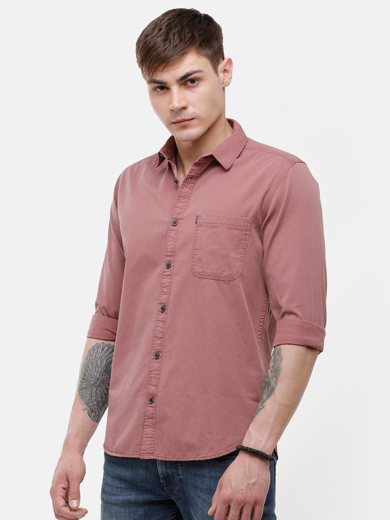 Men's Dust pink full sleeve casual Shirt