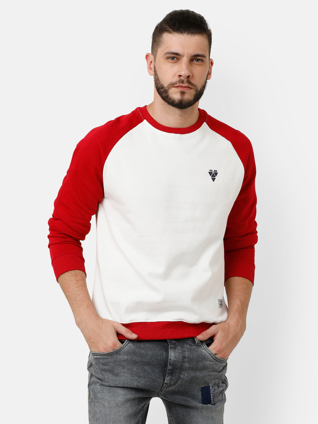 White and Red Sweatshirt