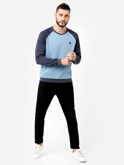 Light blue and Dark blue Sweatshirt