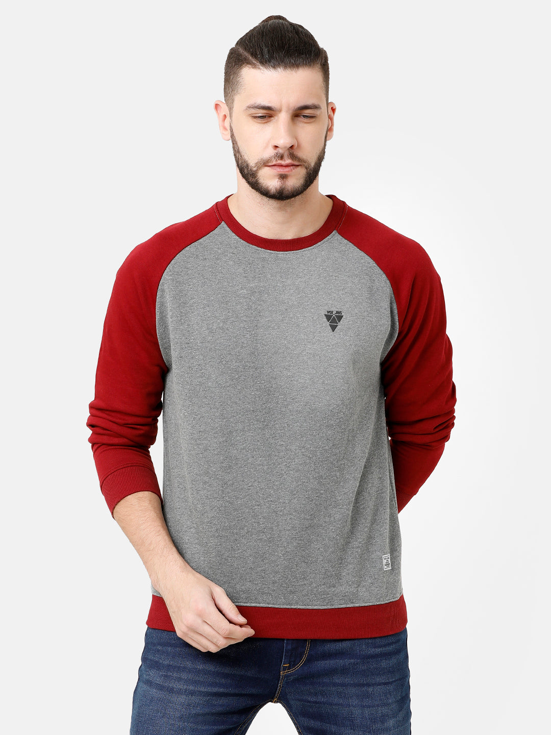 Grey and Red Sweatshirt