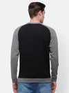 Men's Black & Gray Raglan cut and sew detail Sweatshirt