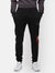 Black with red accents trackpants