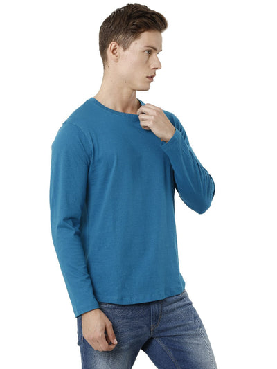 Burgandi Round Neck Slim-fit Men's T-shirt