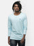 Men's Light blue round neck full sleeve T-shirt