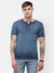 Men's Navy blue Henley half sleeve T-shirt