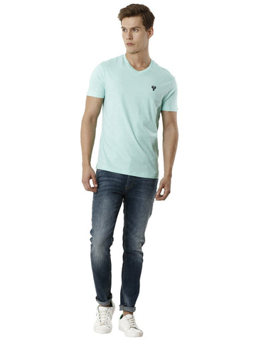 Lucid Green Half Sleeve Men's T-shirt