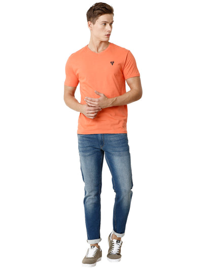 Orange Voi Half-Sleeve T-shirt