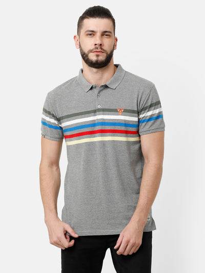 Grey striper T-shirt