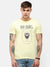 Men's Yellow  half sleeve graphic T-shirt