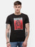 Men's Black Chest graphic print T-shirt