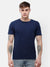 Men's Indigo blue half sleeve round neck T-shirt