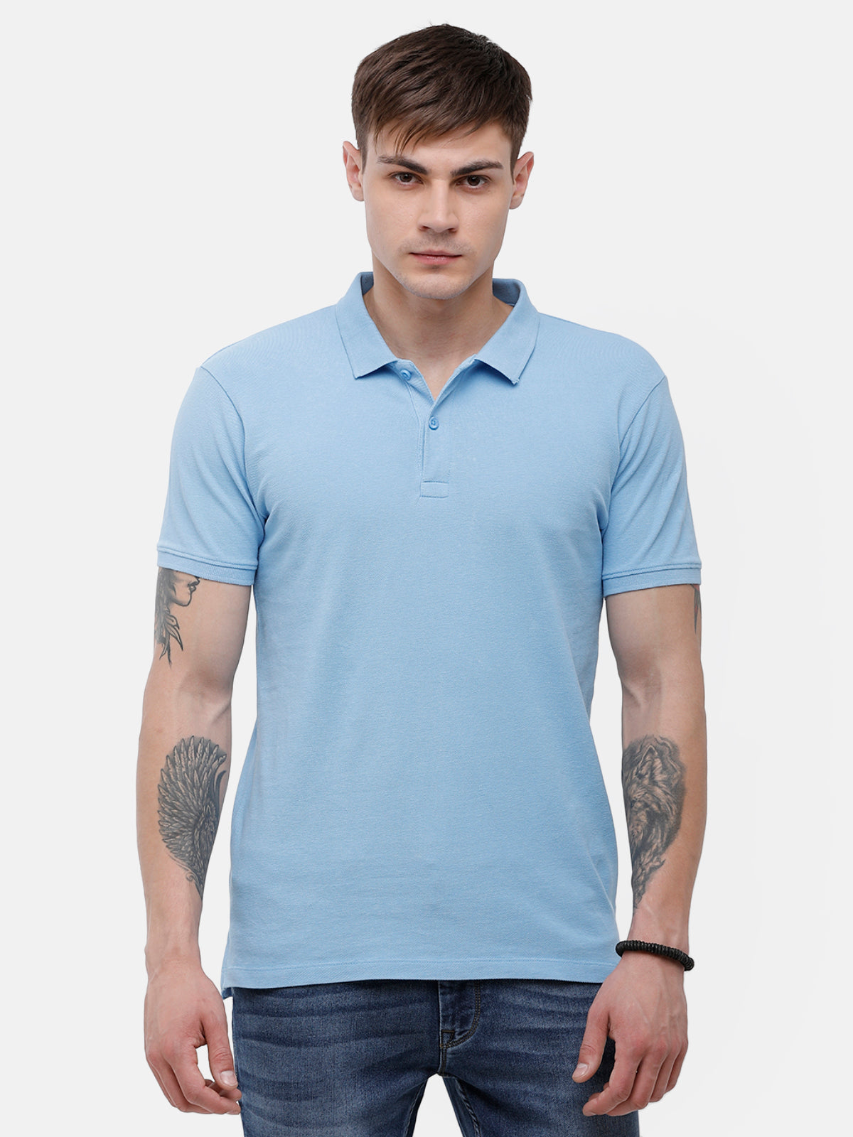Men's Dust blue polo T-shirt