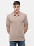 Men's Beige Polo T-shirt