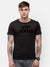 Men's Black chest embroidery T-shirt
