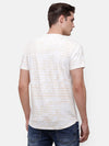 Men's Beige & White fade wash T-Shirt