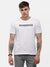 Men's White half sleeve T-shirt with Reflective detail on Chest