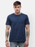Men's Indigo blue half sleeve graphic T-shirt