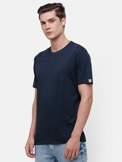Men's Navy Blue Graphic T-Shirt