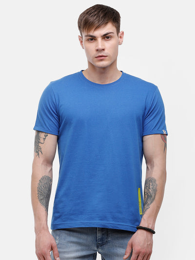 Men's Blue round neck T-shirt